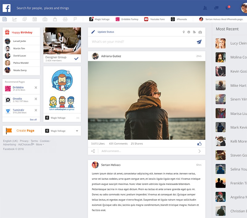 Facebook Redesigned An In Depth Analysis Of Independent Designs